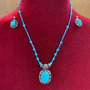 Jewelry - Handmade Turquoise & earring set.